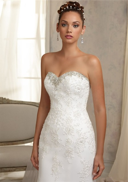 Unique Mermaid Sweetheart Cut Out Cap Sleeve Lace Wedding Dress ...
