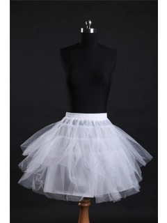 Ball Gown Knee Length Short White Net Crinoline Slip Petticoat