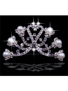 Best Crystals Wedding Bridal Tiaras With Pearls