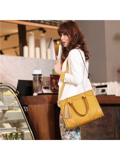 Fashion Romantic Yellow Ladies Handbag