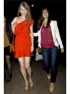 One Shoulder Short/ Mini Chiffon Taylor Swift Red Dress