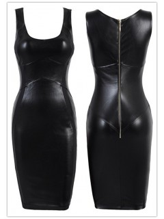 Sexy short/mini club black bandage bodycon dress