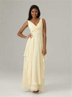 sheath-v-neck-long-daffodil-chiffon-bridesmaid-dress-with-flowers-ruffles