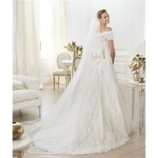 Elegant  Princess Long Soft Tulle Vintage Lace Wedding Bridal Veil