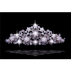 2013 New Princess Crystals Pearls Wedding Bridal Crown Tiaras