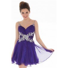 modest ball gown purple satin black tulle lace prom dress