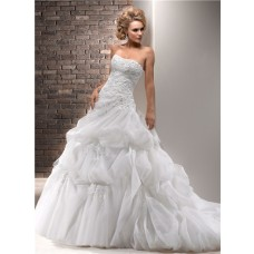 Ball Gown Strapless Lace Tulle Wedding Dress With Detachable Straps