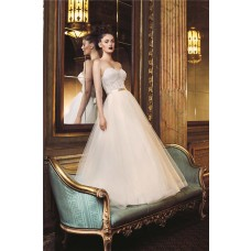 Ball Gown Sweetheart Low Back Tulle Lace Wedding Dress With Bolero Jacket