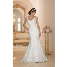 Mermaid Sweetheart Open Back Vintage Lace Beaded Wedding Dress With Straps