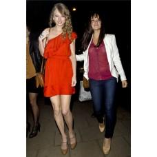 One Shoulder Short/ Mini Chiffon Taylor Swift Red Dress