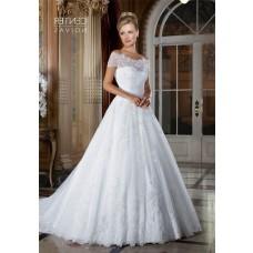 Princess Off The Shoulder Lace Glitter Wedding Dress With Belt