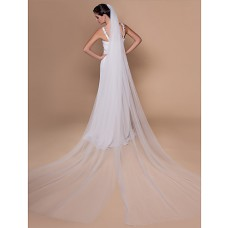 Royal Princess Long Tulle Cathedral Wedding Bridal Veil