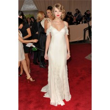 Sexy Off The Shoulder Long Taylor Swift Inspired Red Carpet Dress
