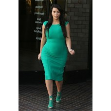 Sexy Tight Short Green Pregnant Kim kardashian Maternity Dress