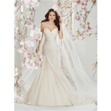 Slim A Line Strapless Dropped Waist Corset Back Ivory Taffeta Organza Wedding Dress