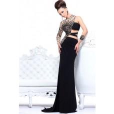 Charmin Red Sweetheart Long Chiffon Prom Dress