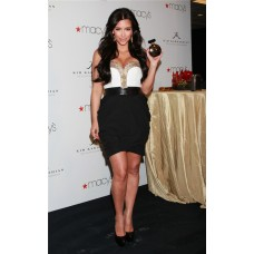 Elegant Sweetheart Short/ Mini White Black Kim Kardashian Dress