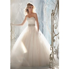Fairytale Ball Gown Princess Detachable Cap Sleeve Wedding Dress With Crystals Pearls Sash