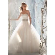Fairytale Ball Gown Princess Detachable Cap Sleeve Wedding Dress With Crystals Pearls Sash