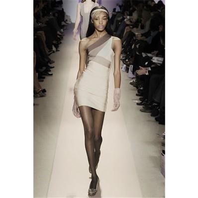 Fashion Tight One Shoulder Short Mini Bodycon Bandage Evening Party Dress