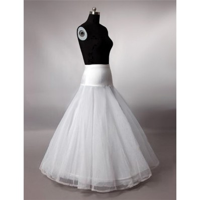 Fitted A Line Tulle Lace Hooped Wedding Bridal Crinoline Petticoat