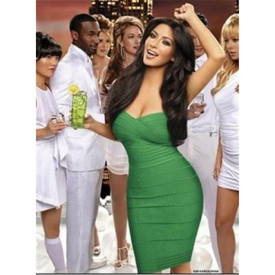 Sexy Sweetheart Short Mini Emerald Green Kim Kardashian Bandage Bodycon Party Dress
