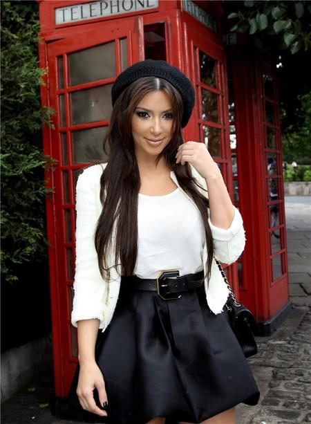 Casual Short Mini Kim Kardashian White Black Suit