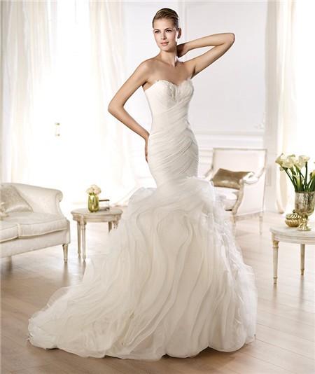 mermaid organza wedding dress | Wedding Ideas