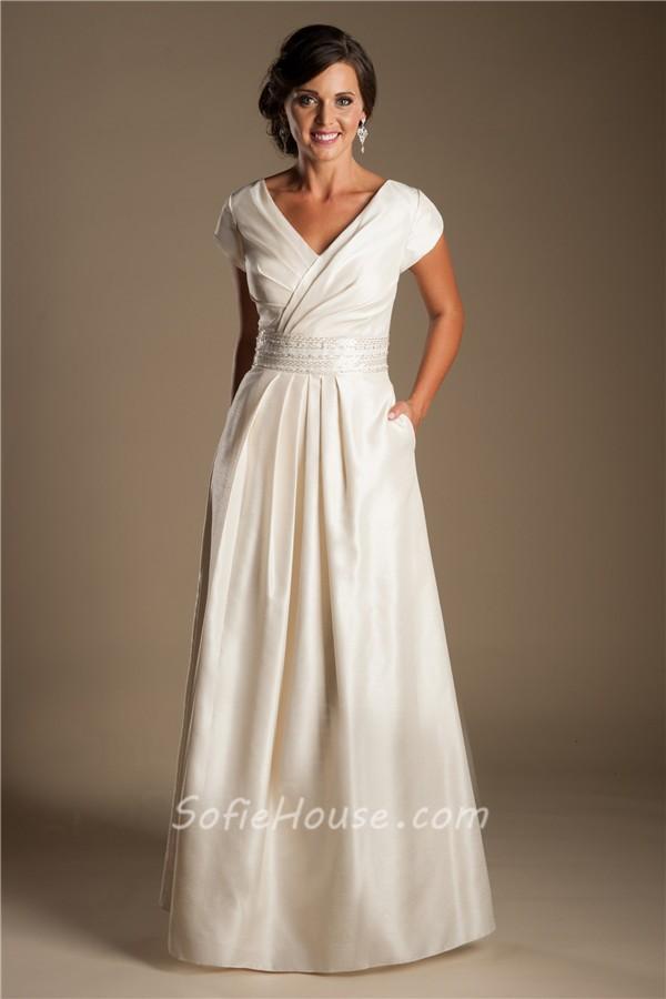 Modest Sheath Wedding Dress