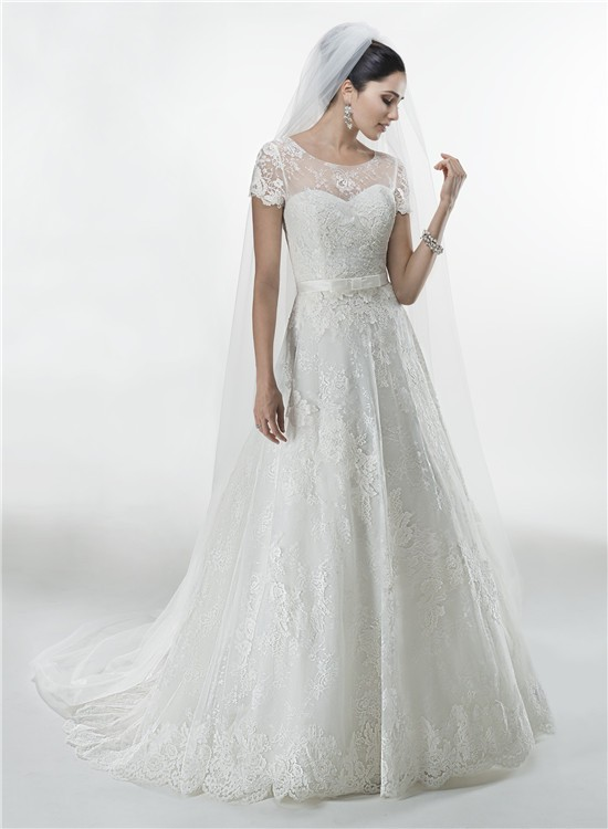 Princess A Line Sweetheart Vintage Lace Wedding Dress With