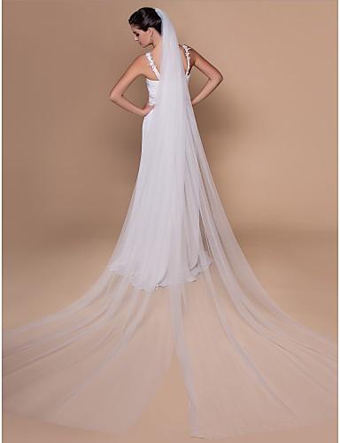 Royal Princess Long Tulle Cathedral Wedding Bridal Veil