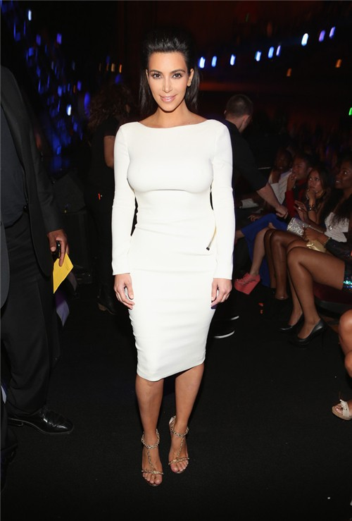 Sexy Tight Backless Short White Stretch Jersey Kim