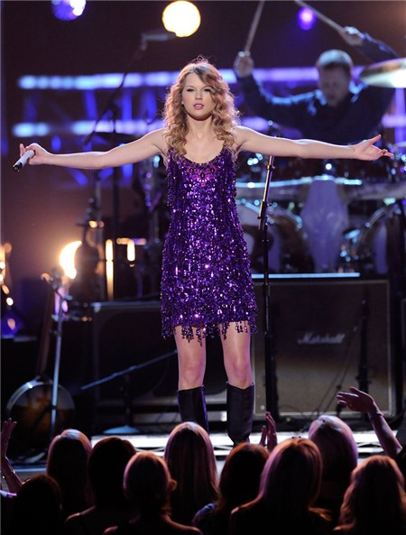 Short Mini Purple Sequin Taylor Swift Sparkly Dress