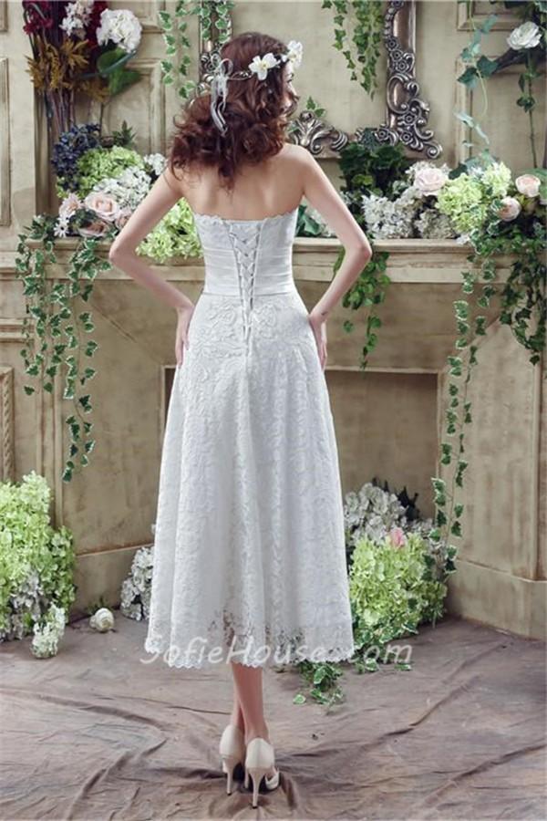 A Line Wedding Dress Back