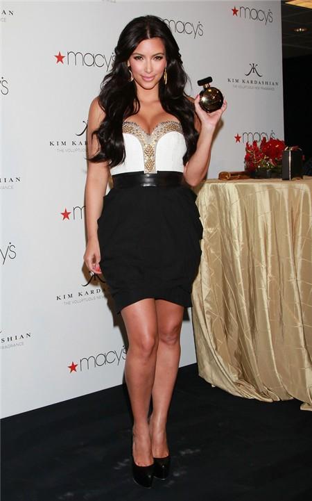 Elegant Sweetheart Short Mini White Black Kim Kardashian