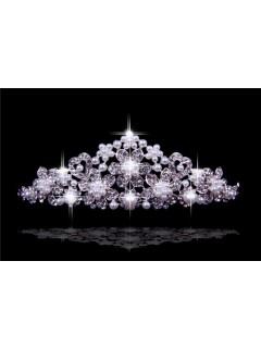 2016 New Princess Crystals Pearls Wedding Bridal Crown Tiaras