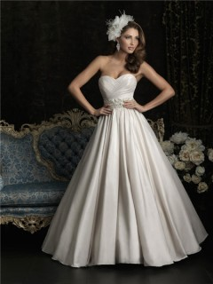 Ball Gown Strapless Sweetheart Taffeta Ruched Beading Wedding Dress With Train