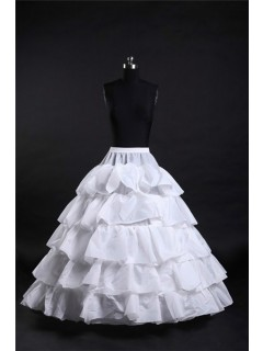 Ball Gown Tiered Hooped Ruffle Wedding Bridal Crinoline Petticoat Underskirt