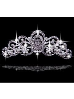 Pretty Crystals Pearls Pageant/ Wedding Tiaras