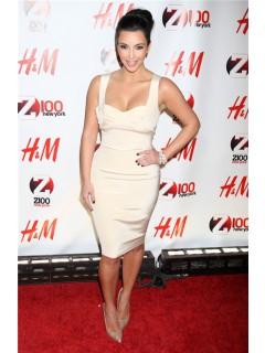Sexy Tight Short kim kardashian White Dress With Straps