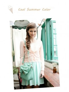 Summer Pretty Girls Mint Green Handbag With Shoulder Strap