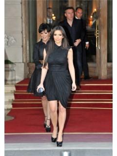 Unique High Neck Short Kim Kardashian Inspired Black Formal Dress