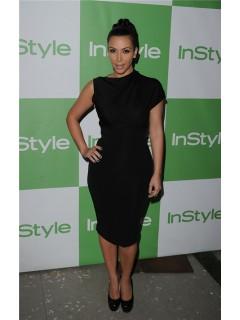 Unusual Asymmetric Short Kim Kardashian Inspired Little Black Dress