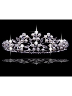 Vintage Pearls Tiaras and Crowns For Wedding