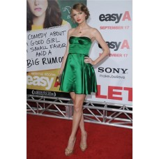 A Line Strapless Short/ Mini Green Taylor Swift Dress