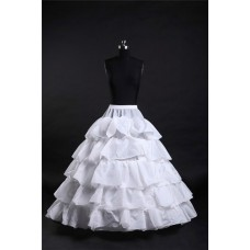 Ball Gown Tiered Hooped Ruffle Wedding Bridal Crinoline Petticoat Underskirt