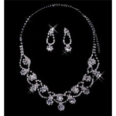 Beautiful Alloy crystal Wedding Bridal Jewelry Set,Including Necklace and Earrings