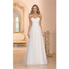 Cute A Line Sweetheart Neckline Lace Tulle Wedding Dress