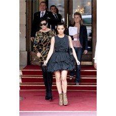 Fashion Ball Short/ Mini Kim Kardashian Little Black Dress