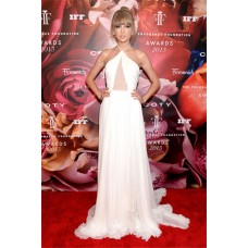 Fragrance Foundation Awards 2013 Red Carpet Taylor Swift Halter Sheer Dress